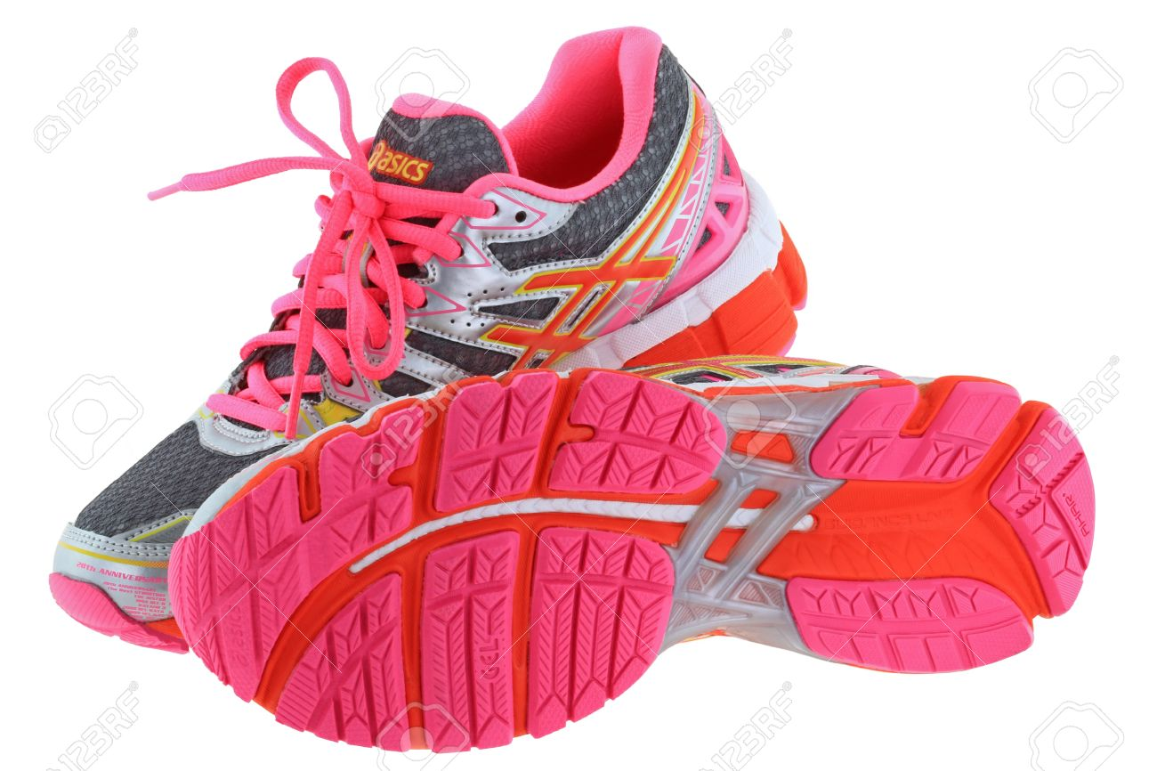 Aparentemente combinación ayer  A Pair Of ASICS Gel Kayano 20 Running Shoes For Women On 25 July.. Stock  Photo, Picture And Royalty Free Image. Image 32401718.
