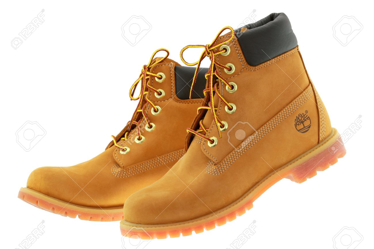 A pair of Timberland 6 Inch premium waterproof boots for women..