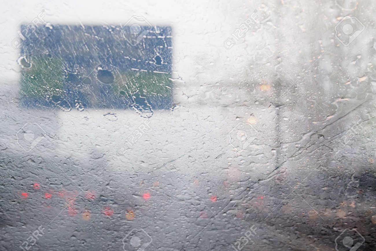 Borrosa Movimiento De Densidad De Tráfico En Carretera Durante El