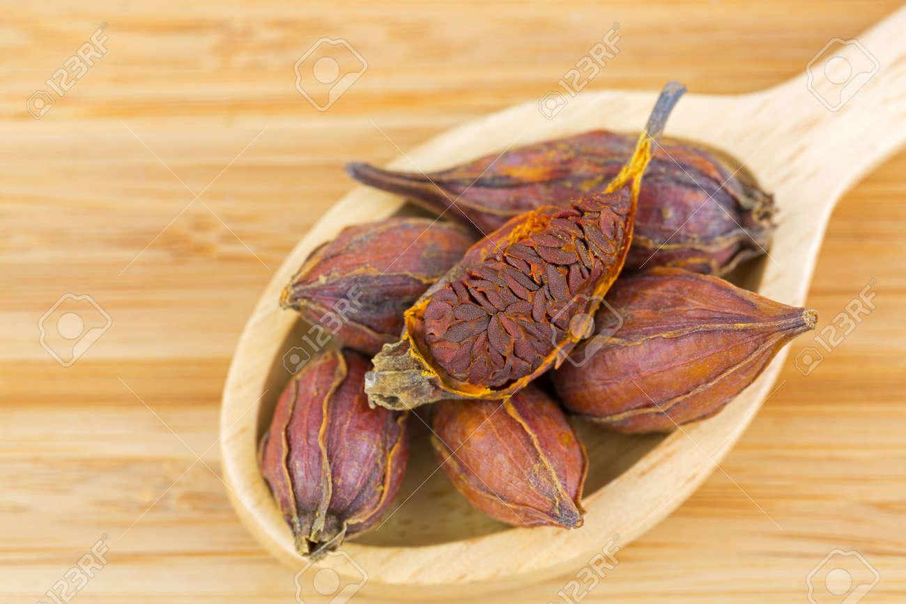 Dried Fruit Of Gardenia Also Called Cape Jasmine Chija Used