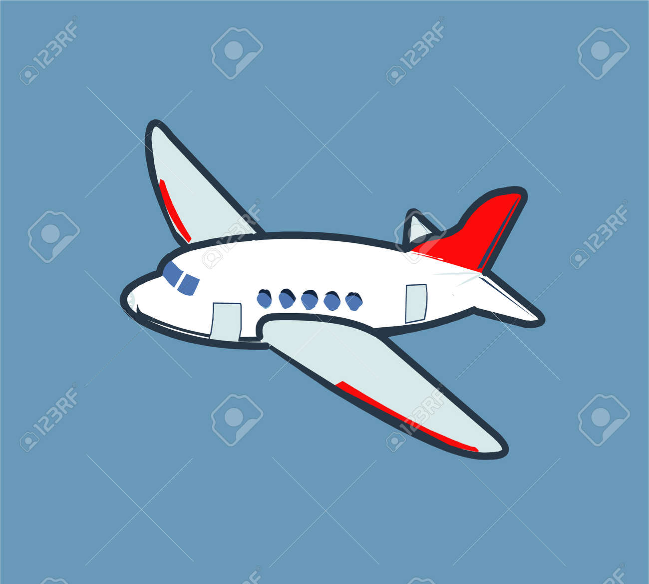 Cartoon airplane flying in the sky Stock Vector - 4031639