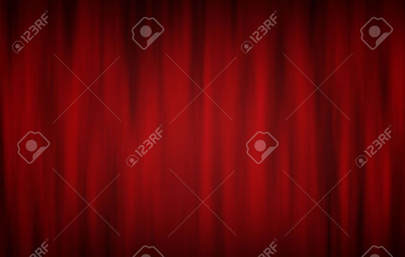 Digitally generated red theatre curtains on black Stock Photo - 6862543