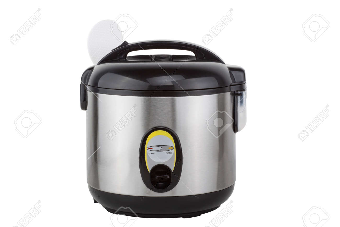 Electric rice cooker isolated on a white background - 126037246