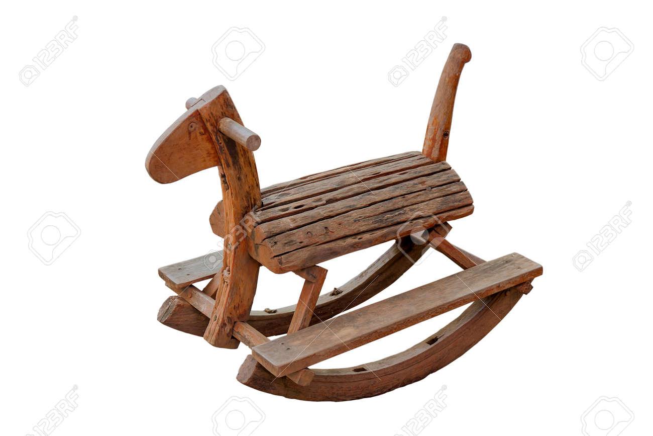 Leuke vintage klassieke hobbelpaard stoel kinderen konden genieten