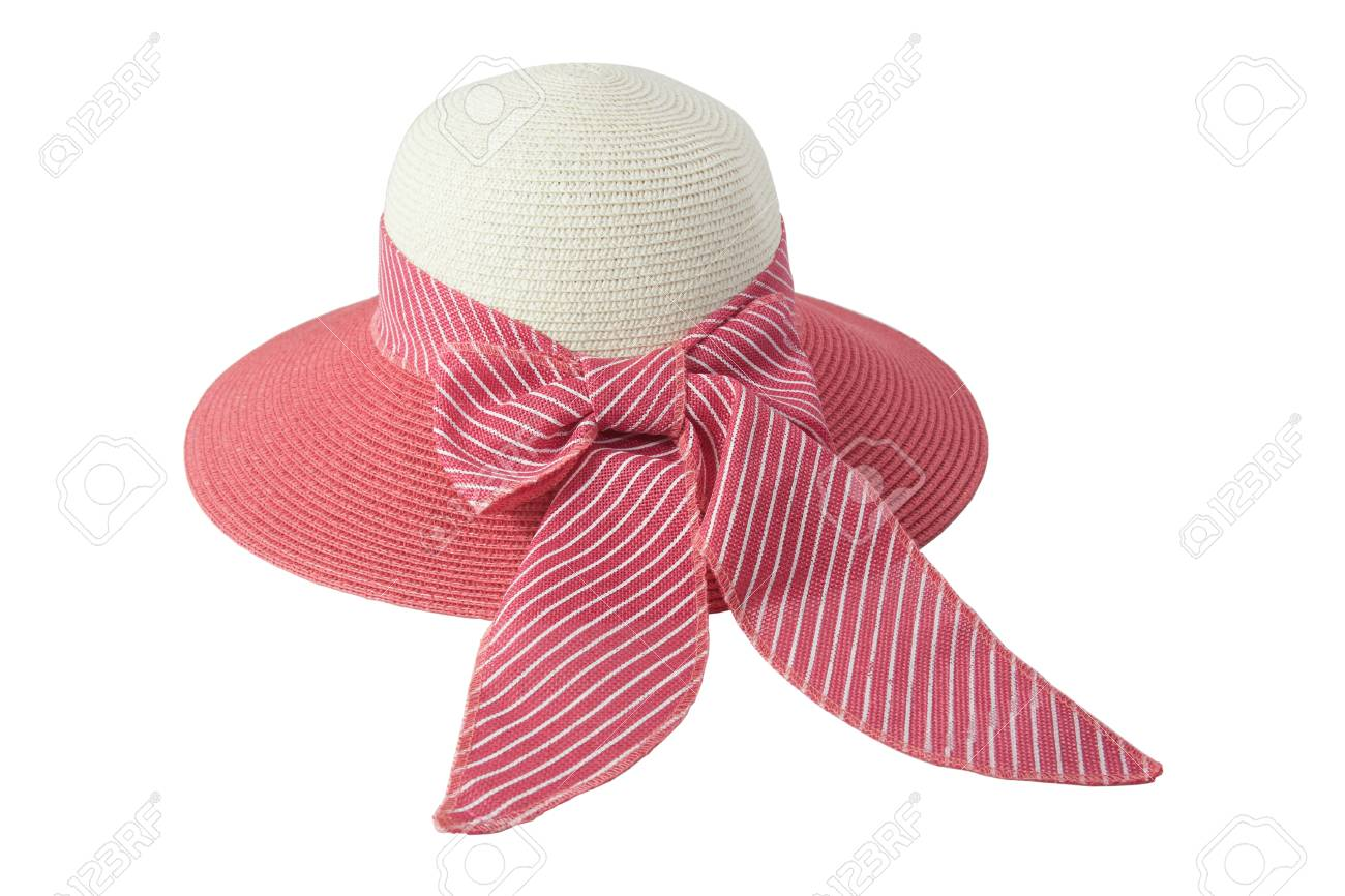 Stock Photo - Woven hat with pink 95f409a87ba