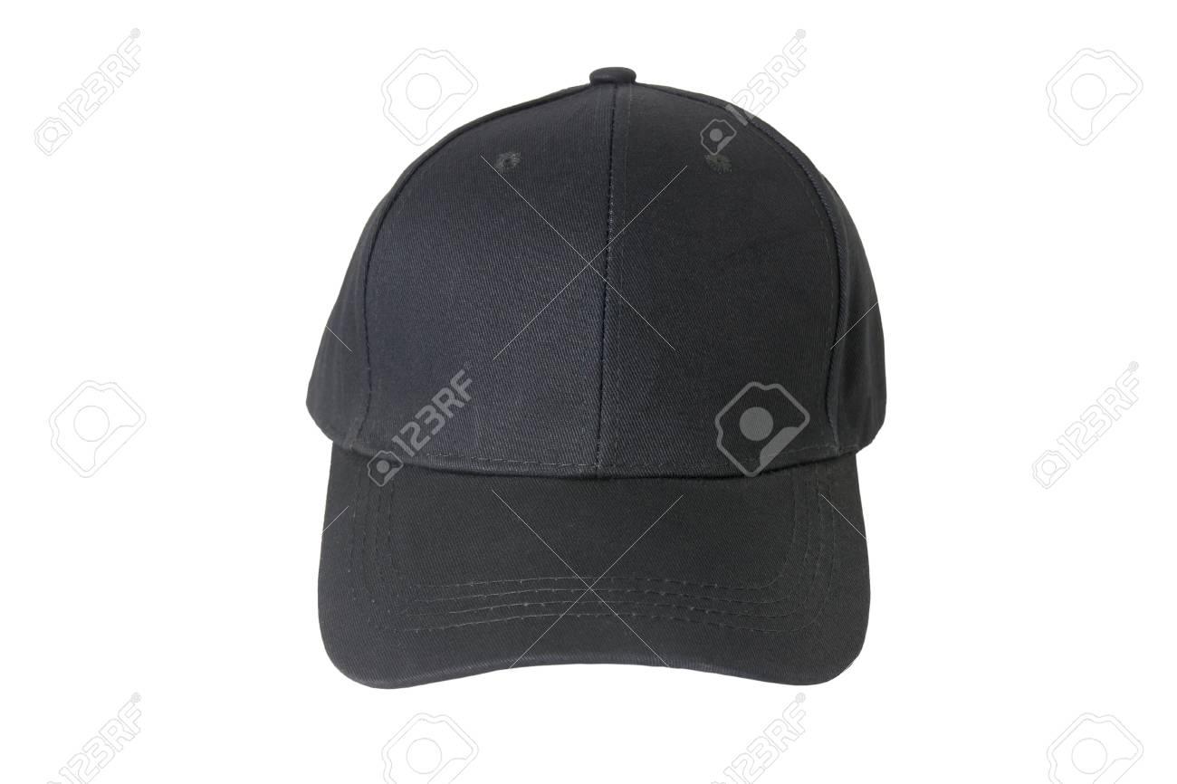 b5129fae Baseball black cap, Isolated on white background. Stock Photo - 85175927