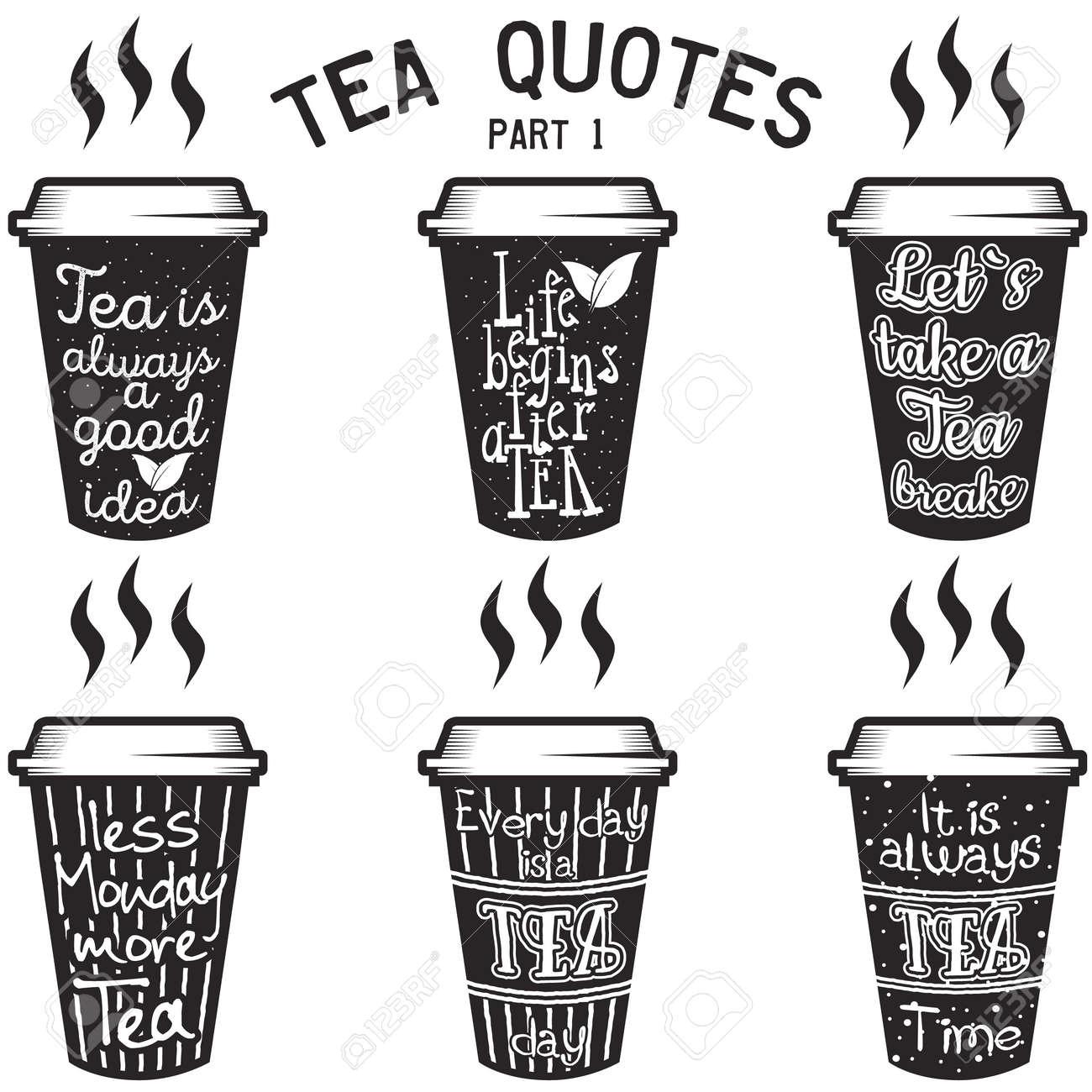 Vektor Tee Zitate Und Sprüche Typografie Gesetzt Lizenzfrei