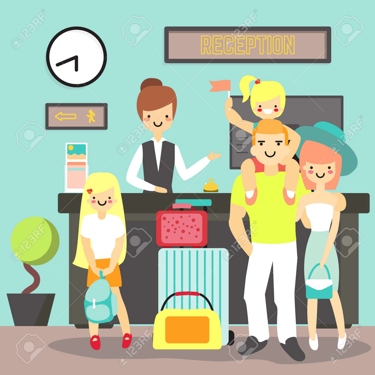 Hotel Reception Concept Vector Illustration Hotel Worker Receptionist Royalty Free Cliparts Vectors And Stock Illustration Image 85821504
