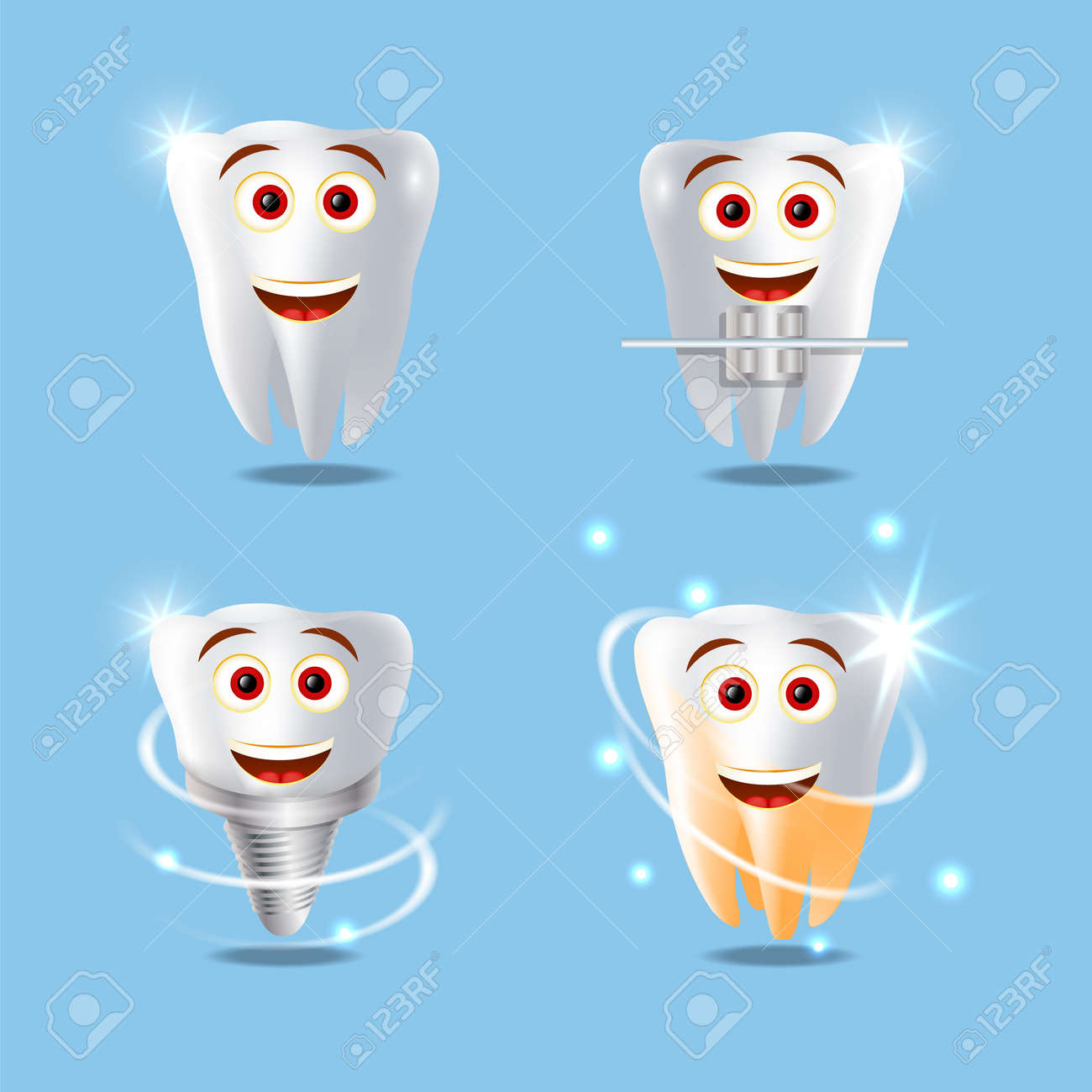 Free stock photo of clipart tooth, dental health, dentist