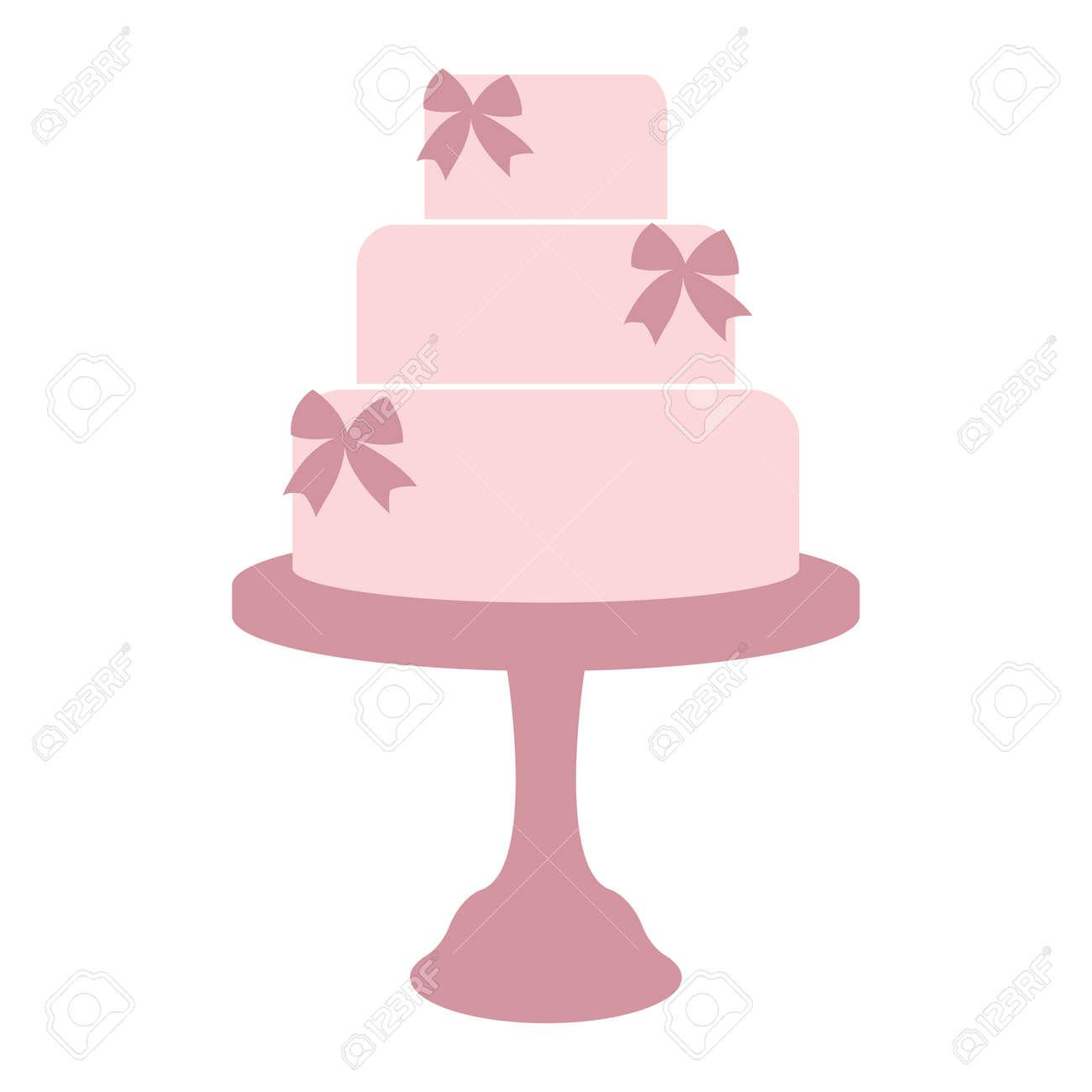 Vintage Wedding Cake Label. Design Template For Label, Badge ...