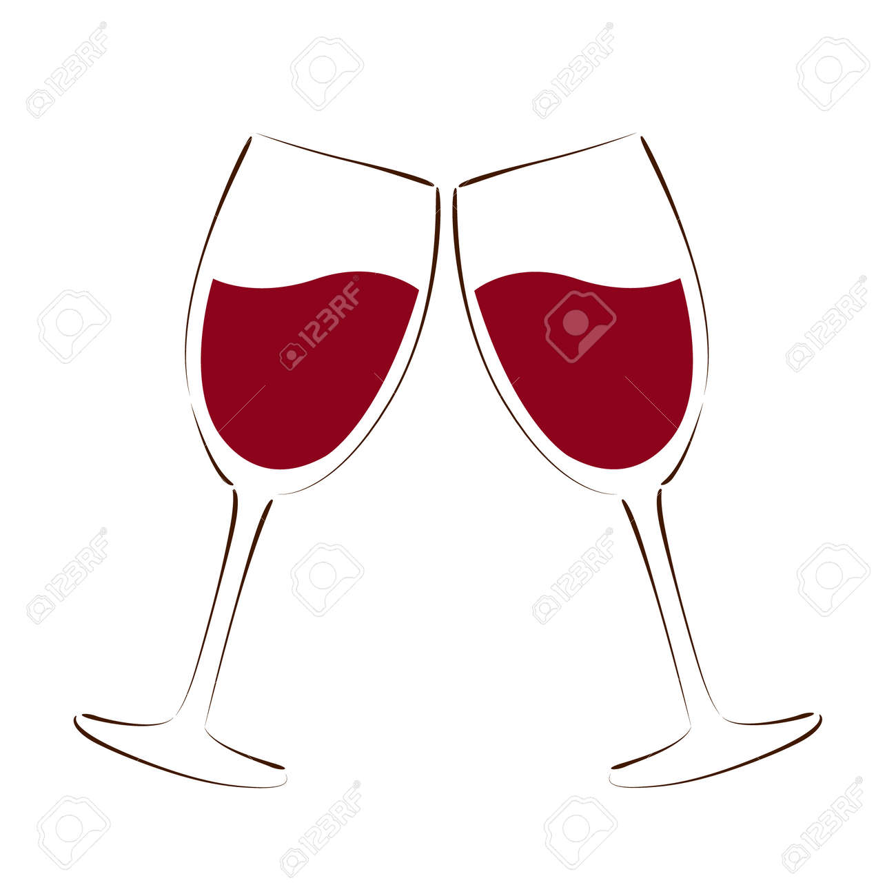 Sketched Glass Of Red Wine Design Template For Label Banner Royalty Free Cliparts Vectors And Stock Illustration Image 45127061