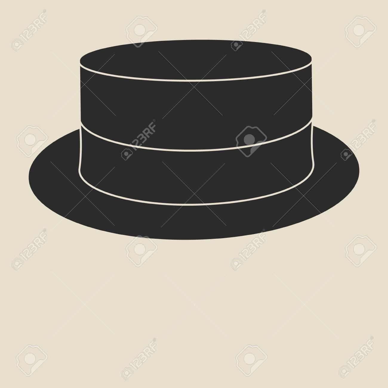 vintage man s boater hat label design template for label banner