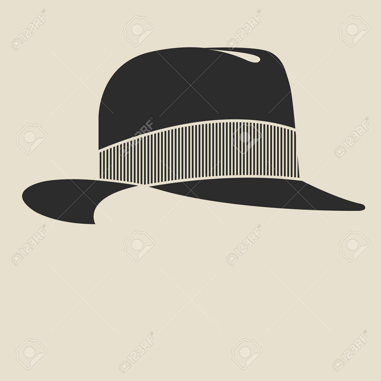Vintage Man S Felt Hat Label. Design Template For Label, Banner ...