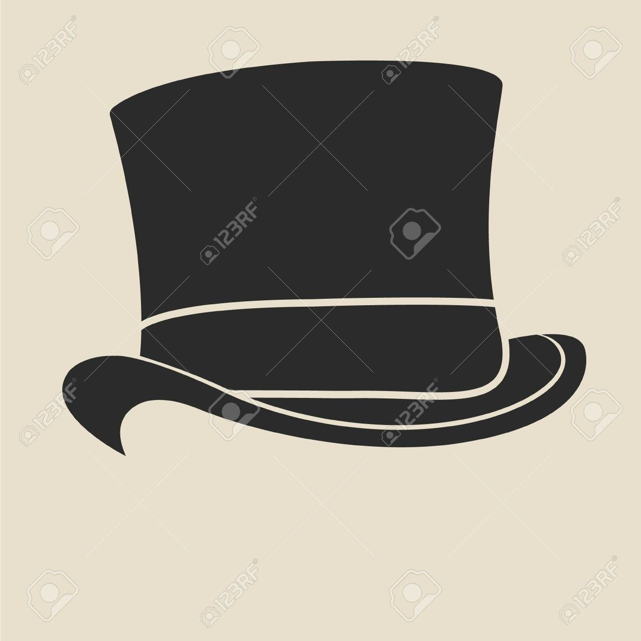 vintage man s top hat label design template for label banner