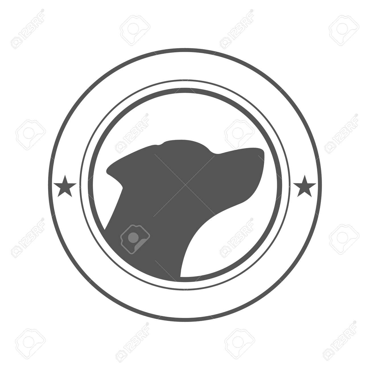 Hund Hunde Logo. Design-Vorlage Für Etiketten, Banner, Abzeichen ...