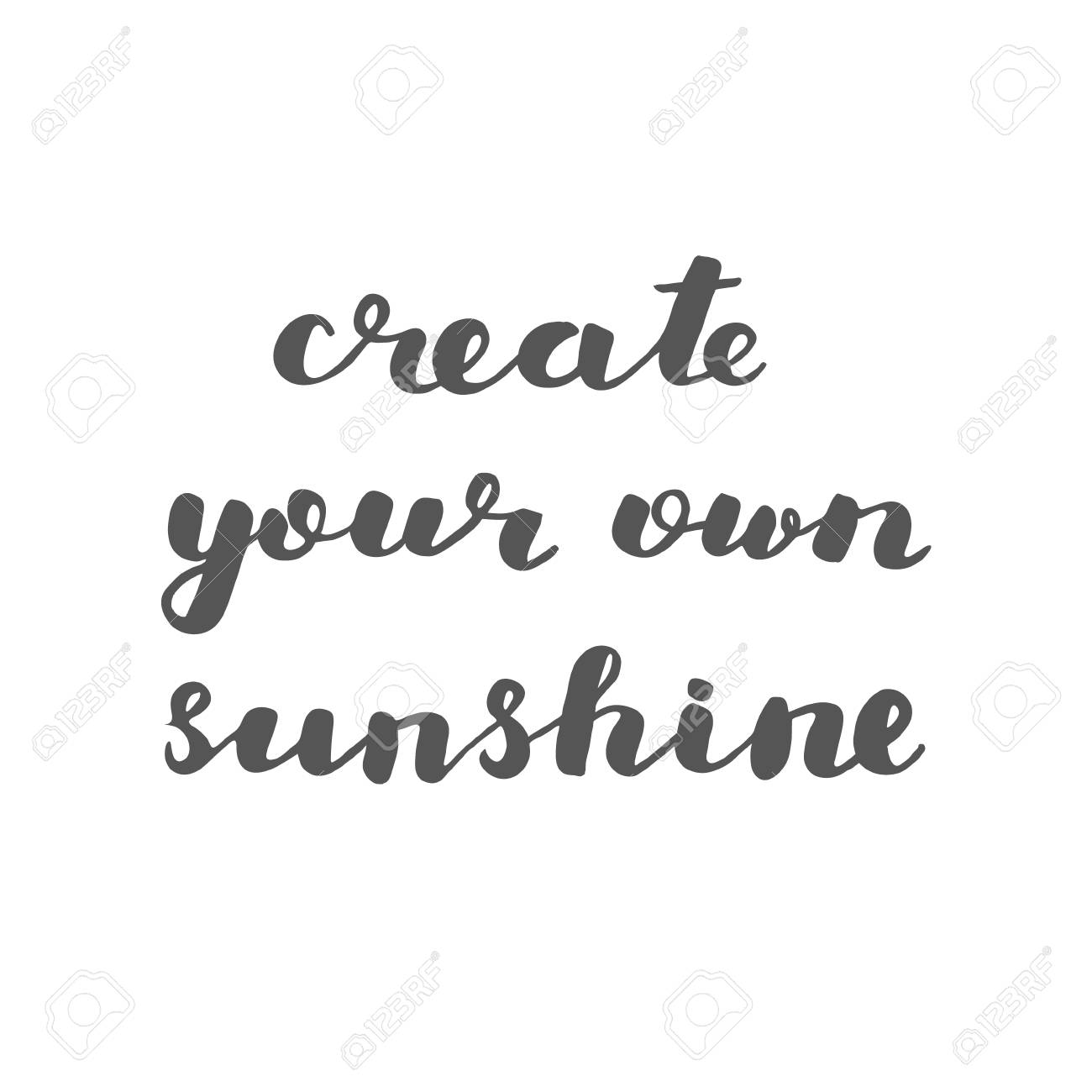 Create Your Own Sunshine Brush Hand Lettering Inspiring Quote