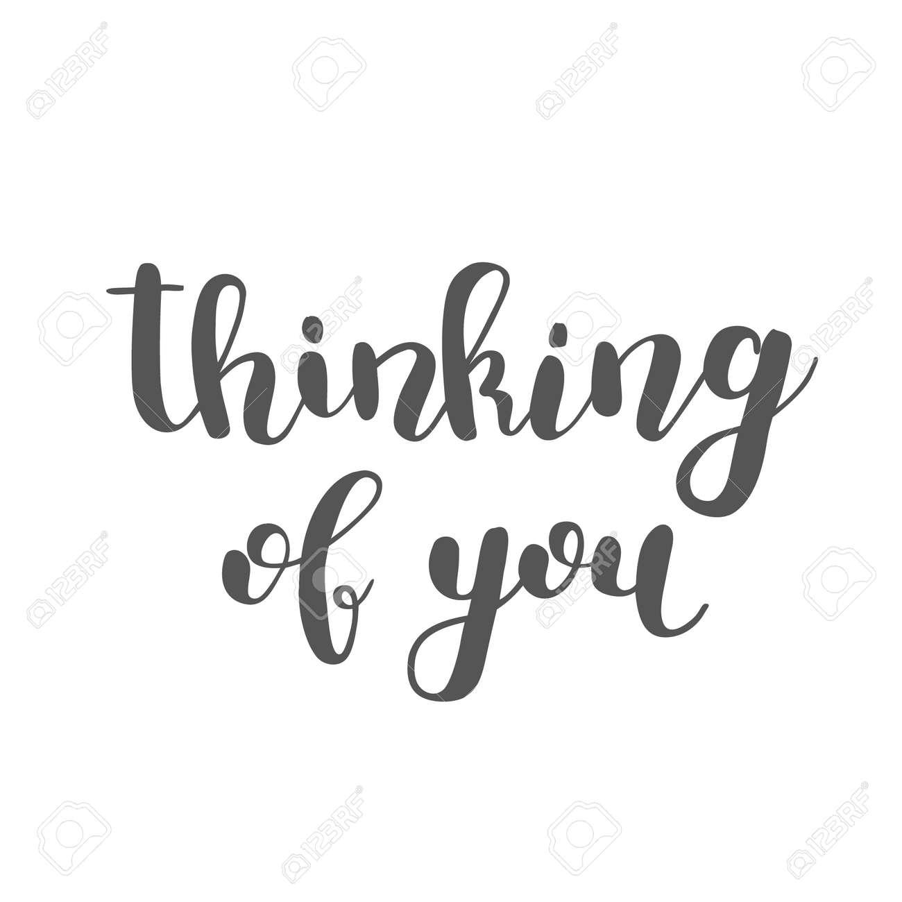 Denke An Dich. Pinsel Hand Schriftzug. Inspirierende Zitat ...