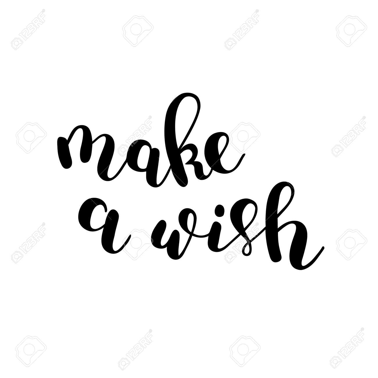 Make A Wish Quotes Fair Make A Wishbrush Hand Letteringinspiring Quotemotivating
