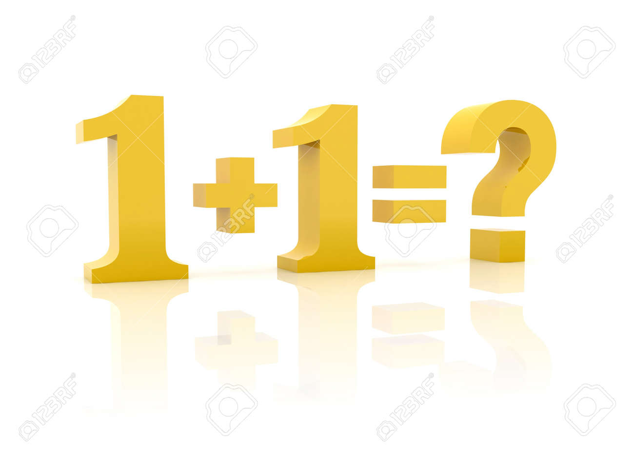 Simple Math. Concept 3D Illustration. Stock Photo, Picture And ...