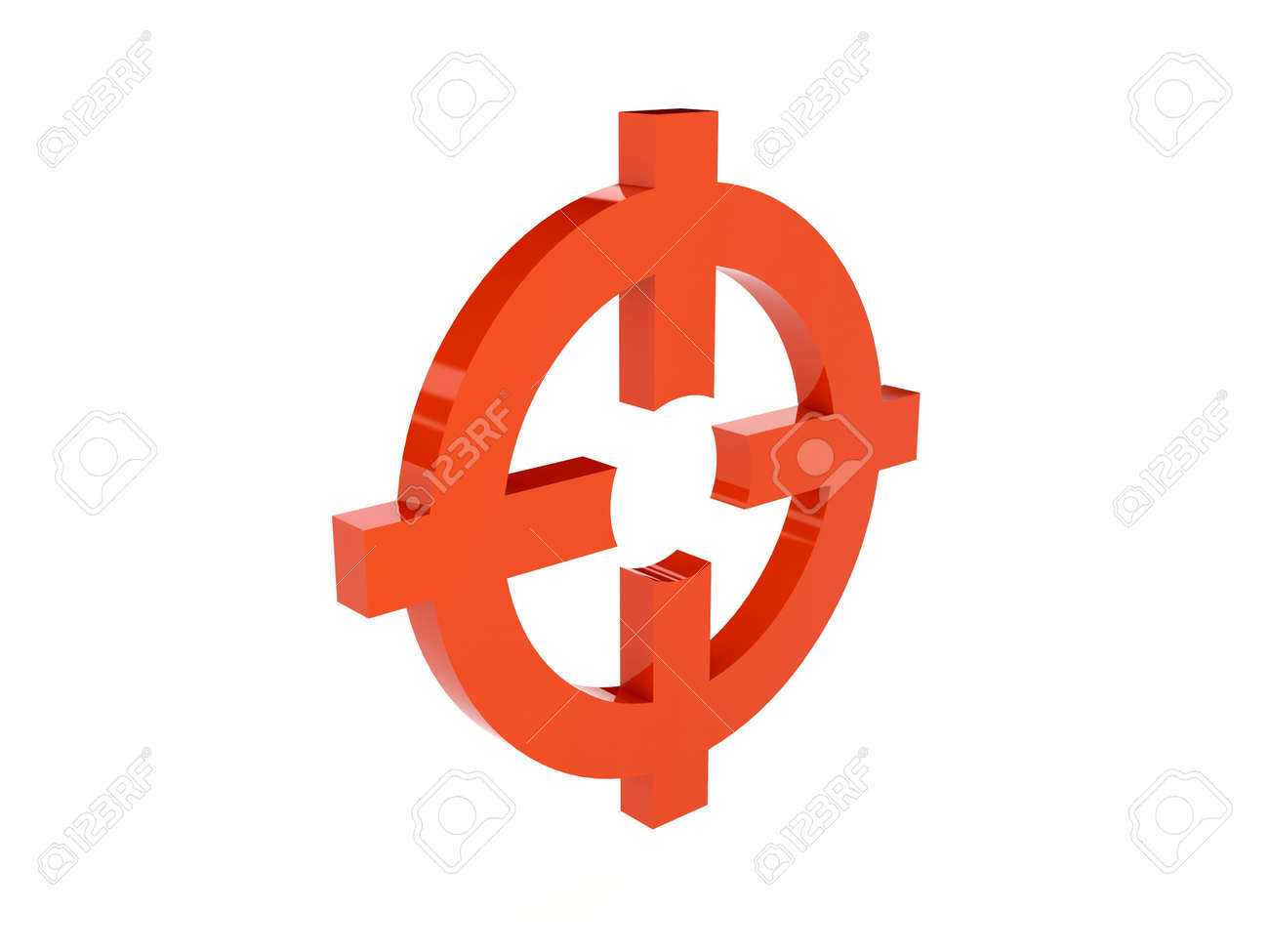 Target icon over white background. Concept 3D illustration. Stock Photo - 20833286