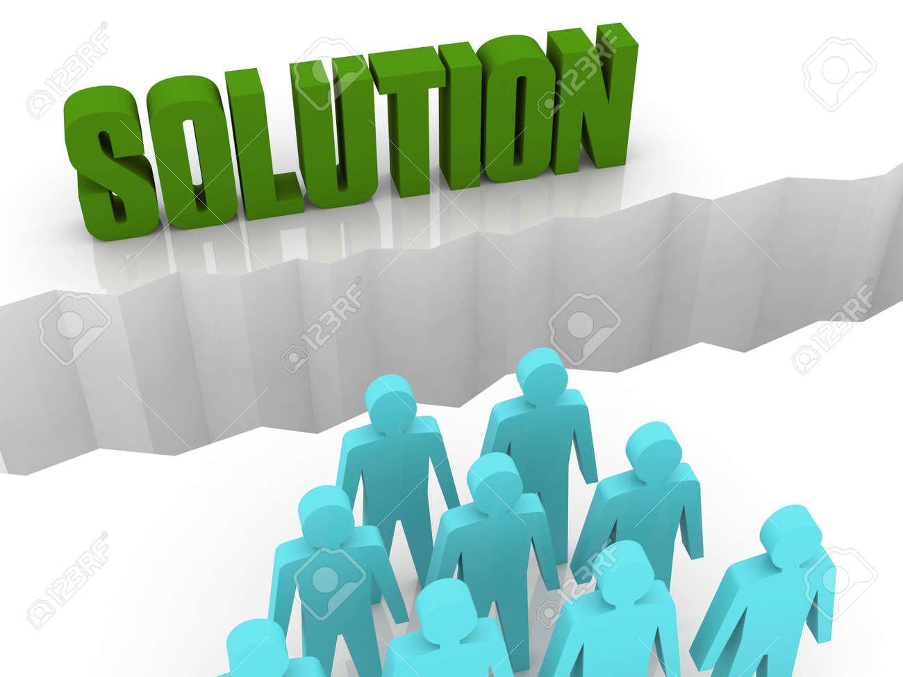 Team can not find a SOLUTION. Concept 3D illustration. Stock Illustration - 22629543