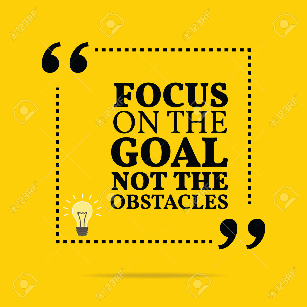 Stock illustration 3d red text quot yes quot stock illustration royalty - Advice Icon Inspirational Motivational Quote Focus On The Goal Not The Obstacles Simple