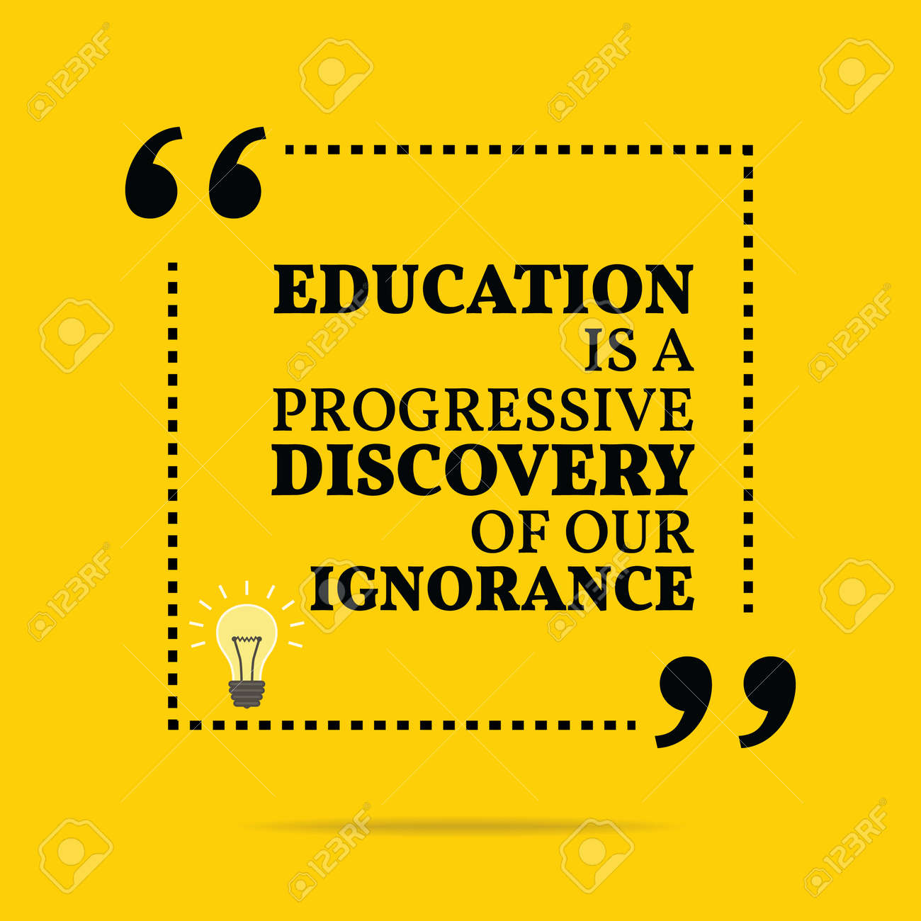 Inspirational Motivational Quote Education Is A Progressive