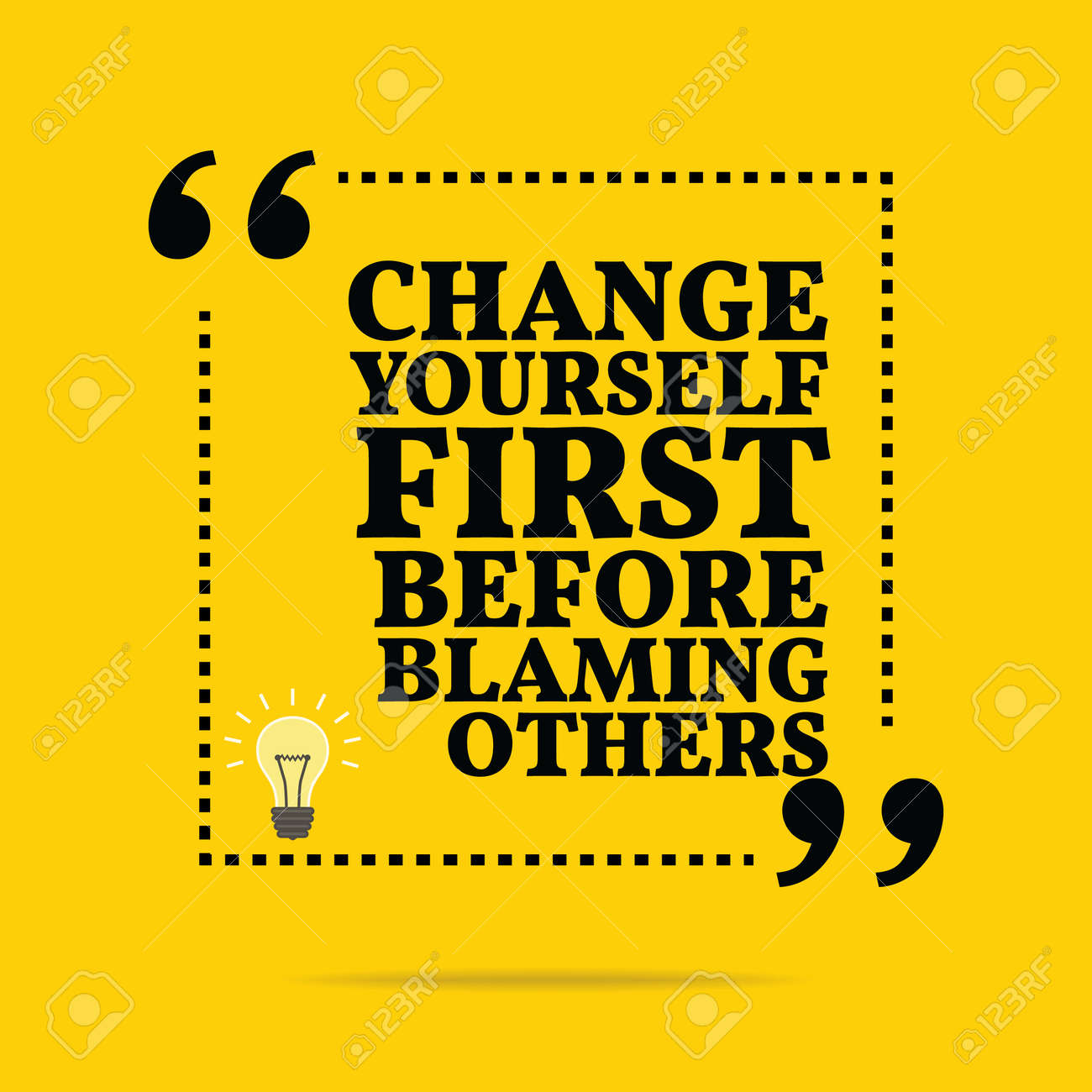 Inspirational Motivational Quote Change Yourself First Before