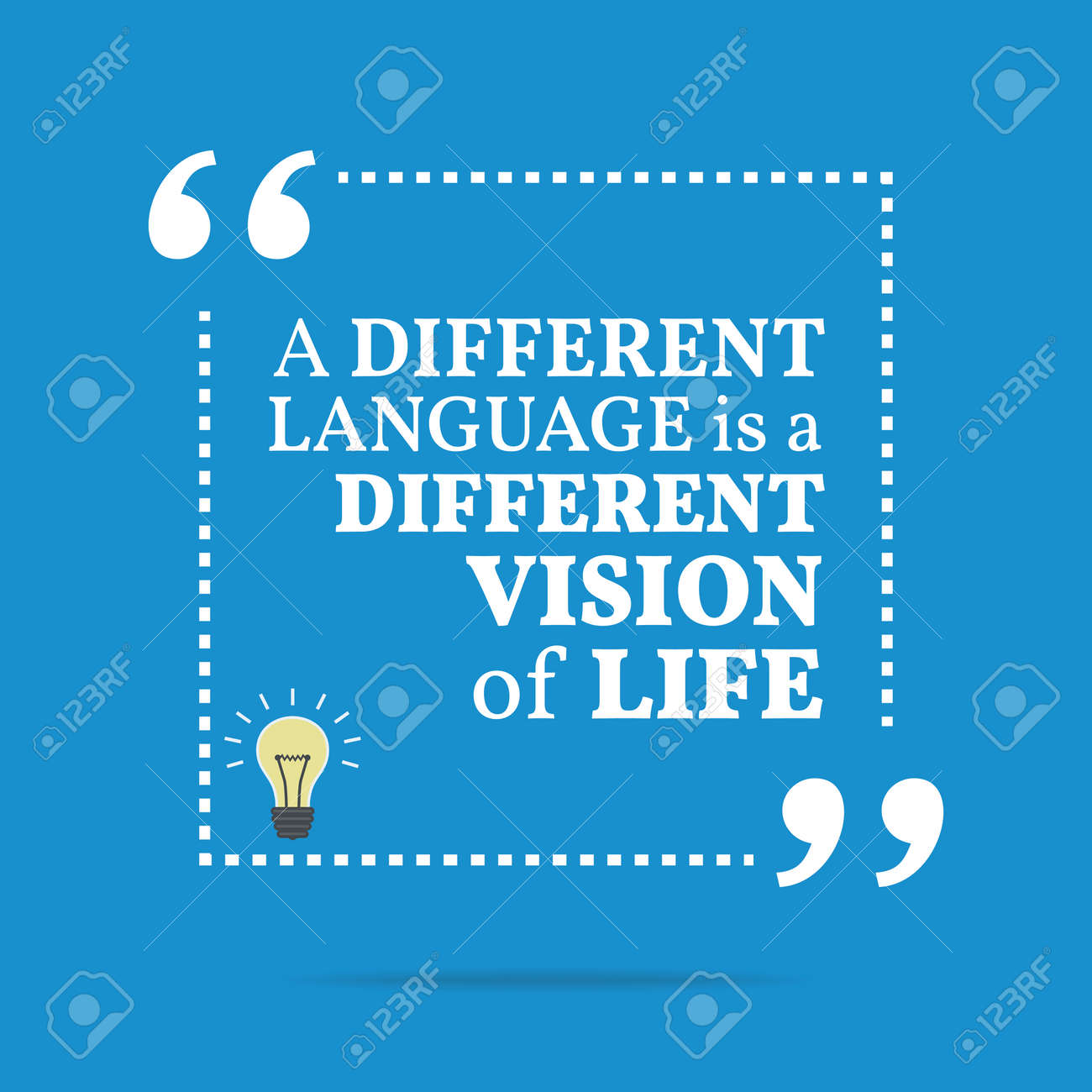 inspirational motivational quote a different language is a