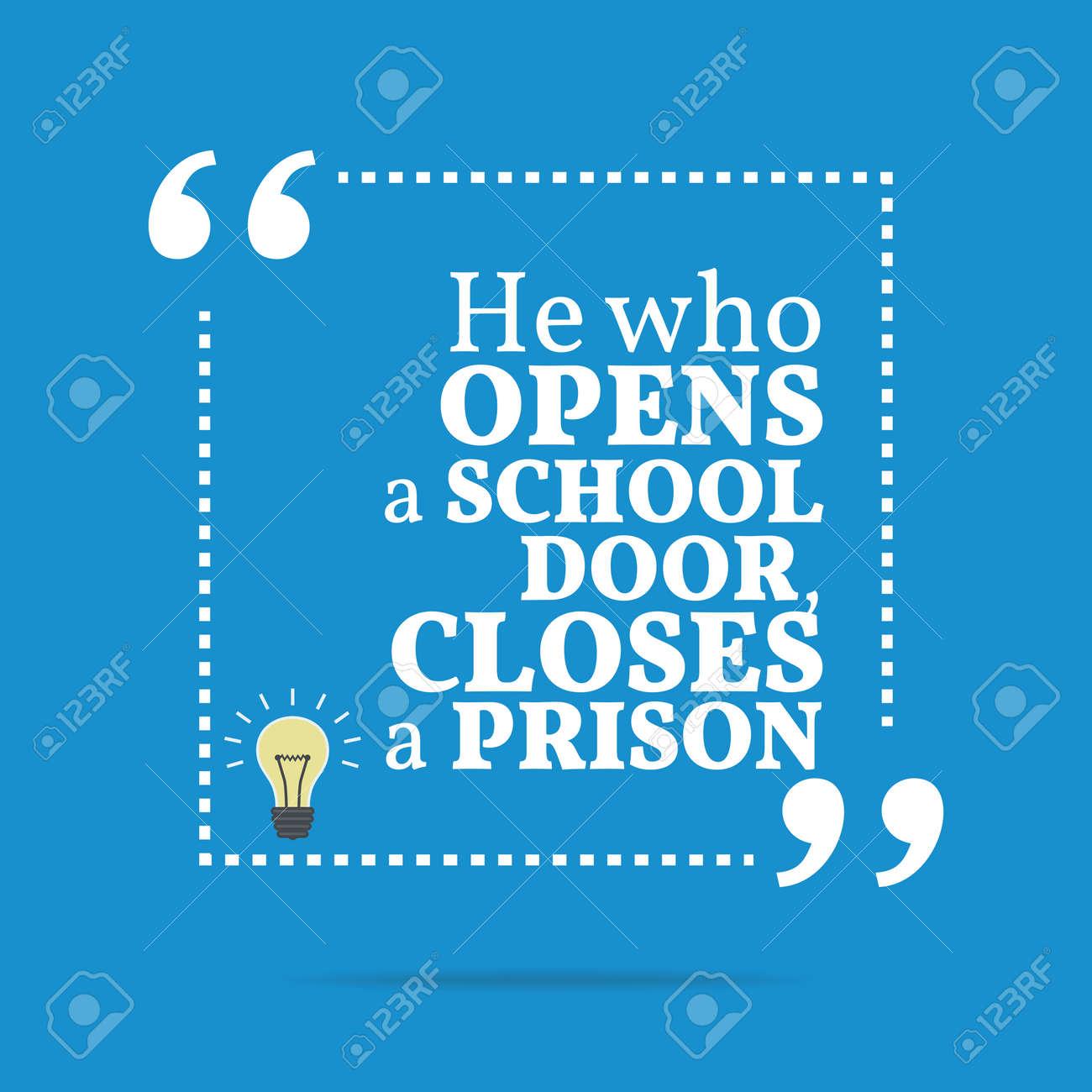 school door clipart. He Who Open A School Door, Closes Prison. Simple Door Clipart