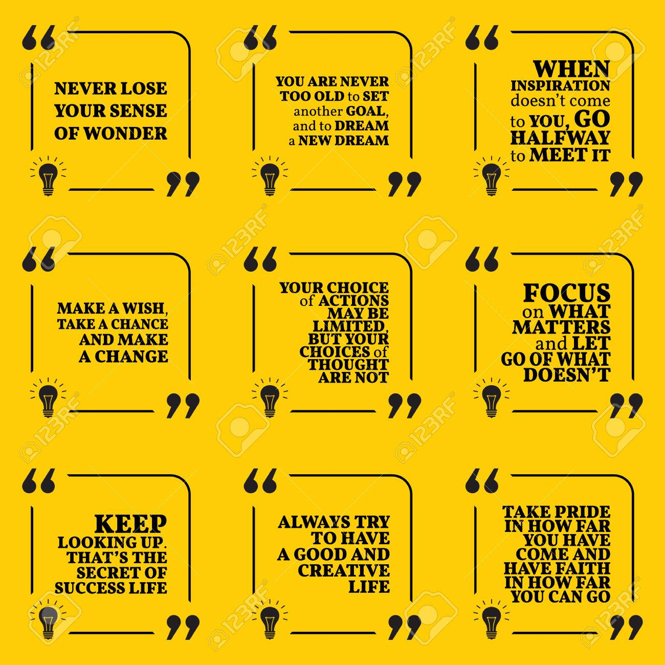 set of motivational quotes about dreams goals choices action rh 123rf com