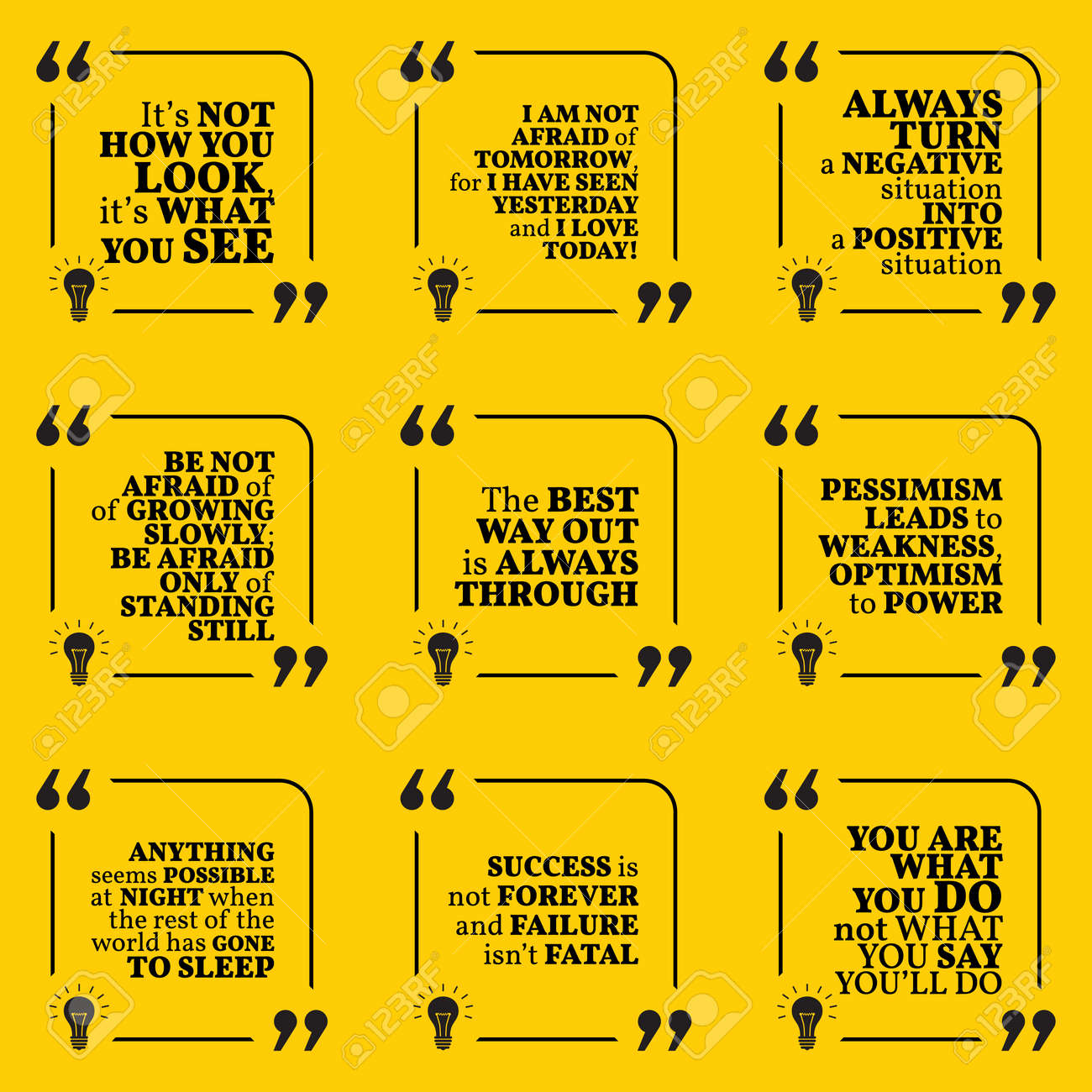 Quotes About Optimism Set Of Motivational Quotes About Positive Thinking Optimism