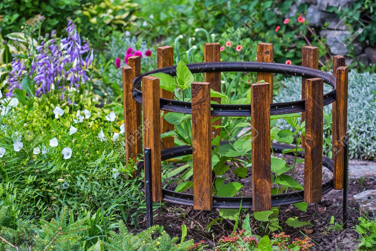 Soporte Simple Para Arbustos De Jardin De Un Borde De Bicicleta Y - Arbustos-para-vallas
