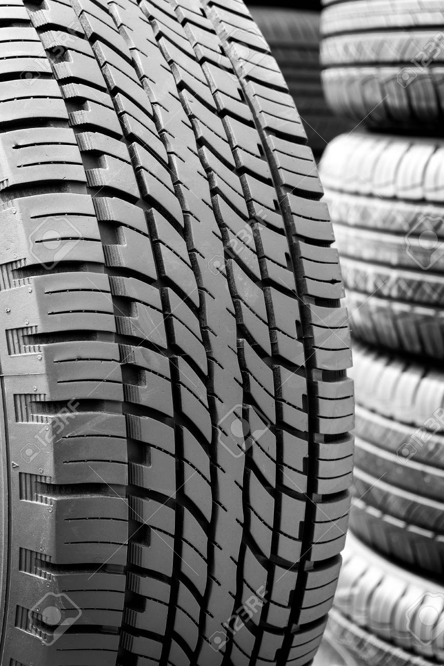 Used Car Tires >> Close Up Of Tyre Tread Texture Tread Of Used Car Tires Tread