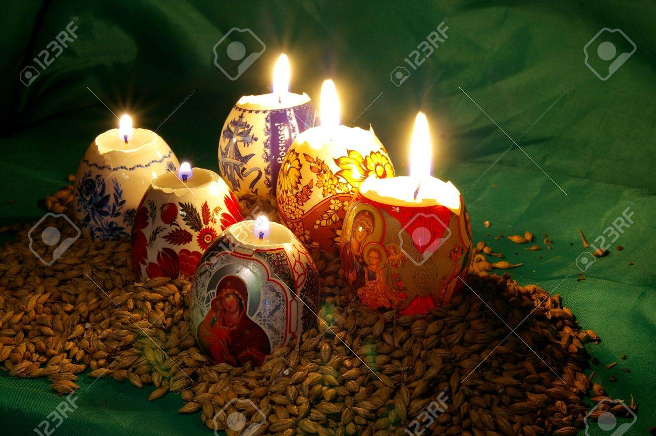 The painted eggs is a symbol of a religious holiday of Easter Stock Photo - 2713124