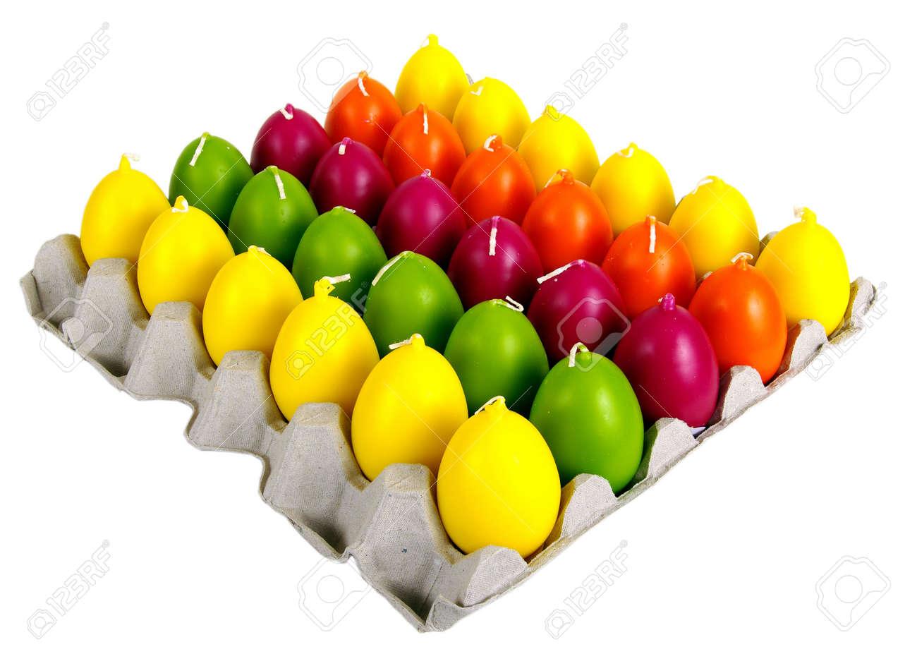 Velas En Forma De Huevos De Pascua. Ornamentos Hermosos De Unas ...