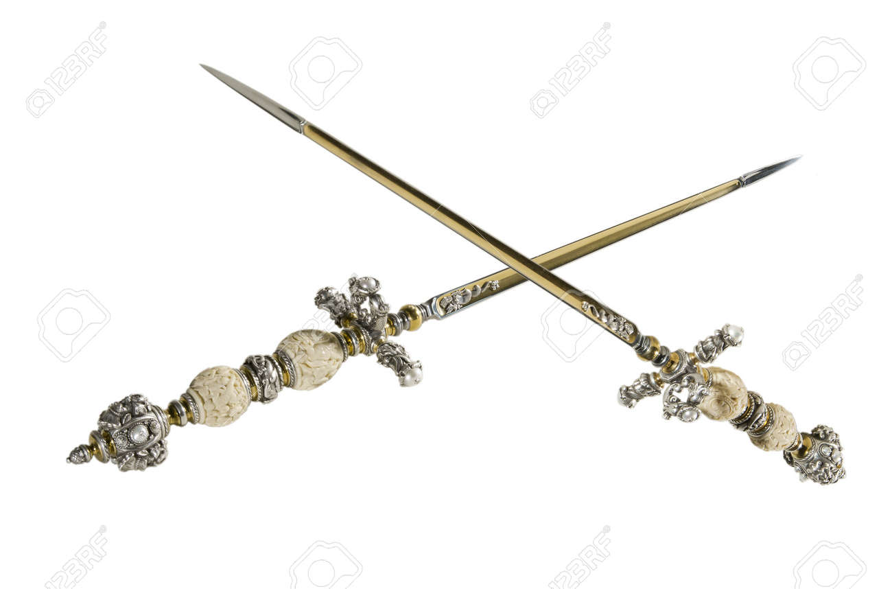 Stiletto - Secret Edged Weapons In The Middle Ages Stock Photo ...