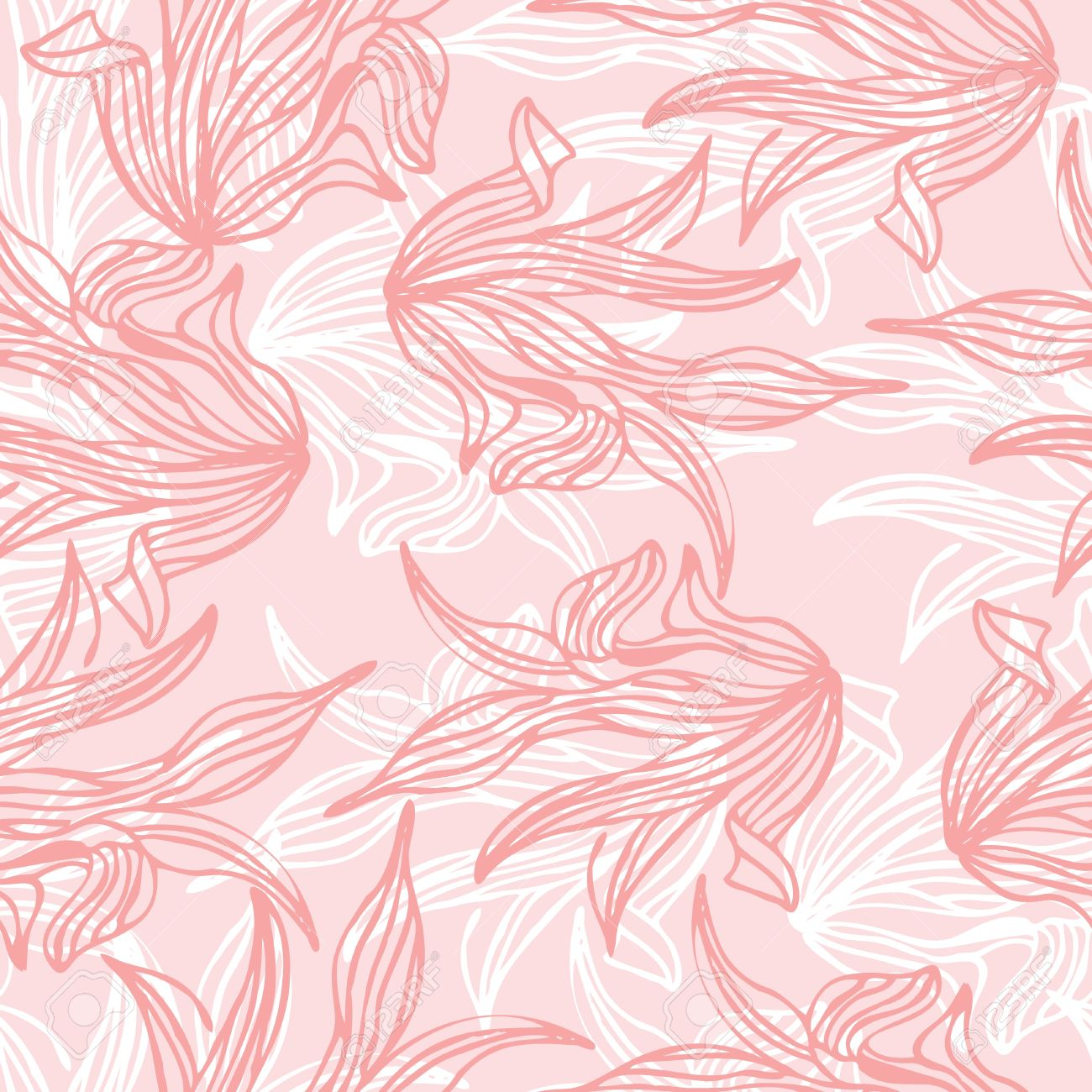 Seamless pattern of pink leaf illustration background Stock Vector - 18706191