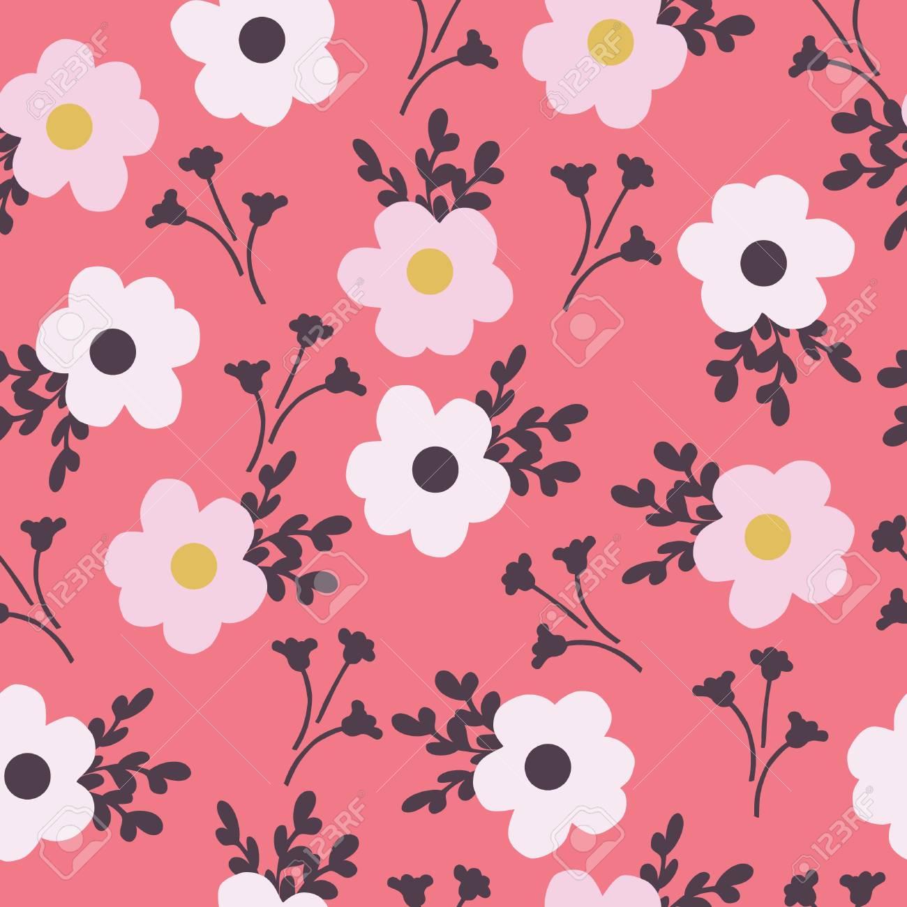 花背景、イラストのシームレス パターン ロイヤリティフリークリップ
