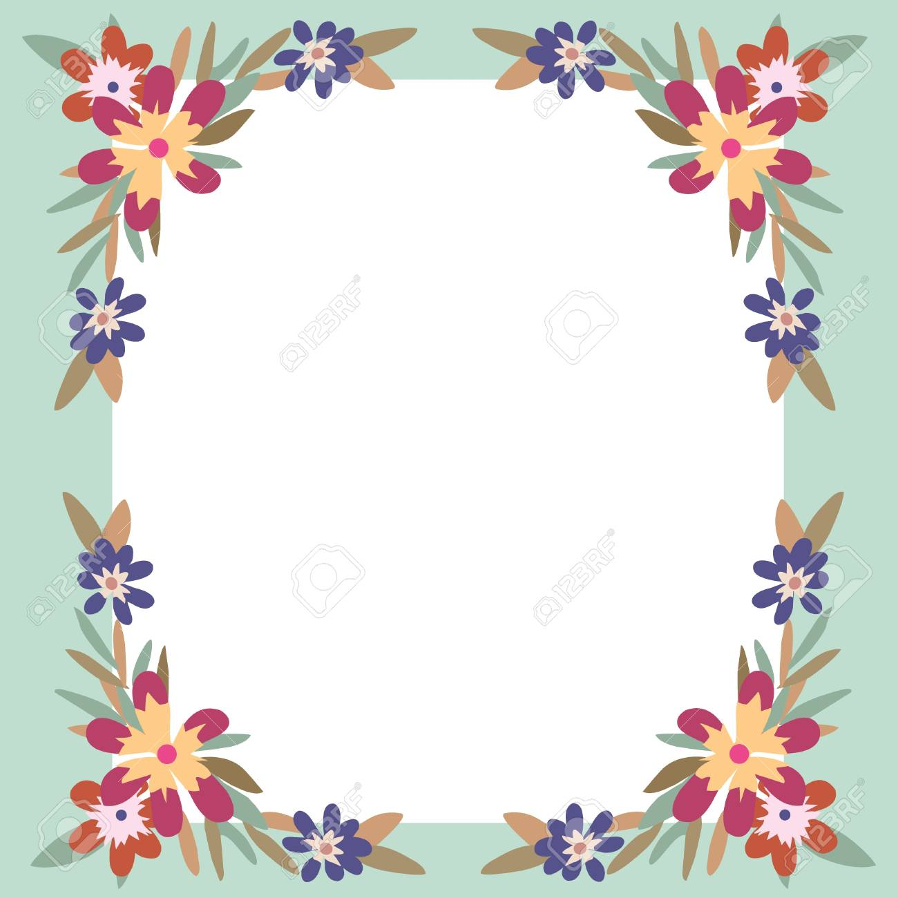 Flowers Frame Background Royalty Free Cliparts Vectors And Stock