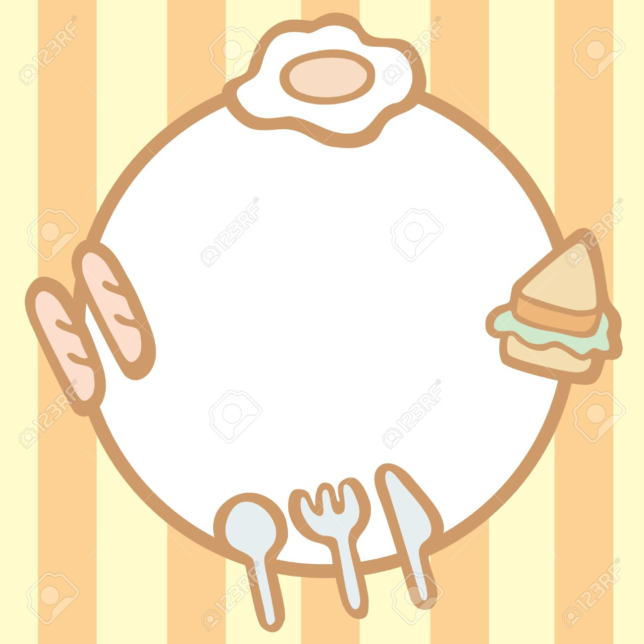 Frame Of Breakfast Background With Space For Your Text, Vector Illustration Stock Vector - 19845068