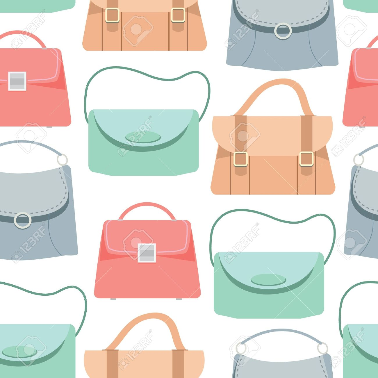 seamless pattern background of colorful bags vector illustration