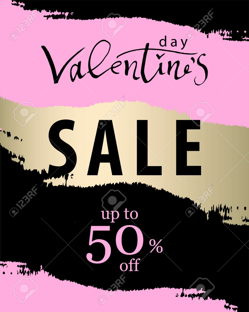 Valentine S Day Sale Banner With Trendy Romantic Elegant Background