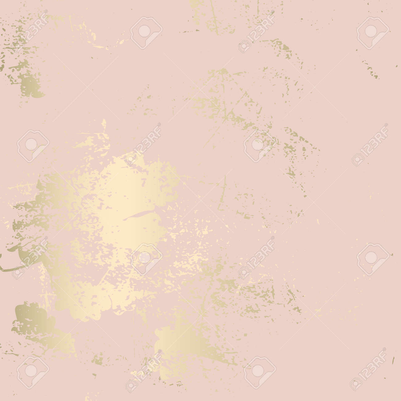 Chic blush pink gold trendy marble grunge texture with floral ornament. Elegant background for advertising, interior design, fashion, textile, wedding, etc - 122716172