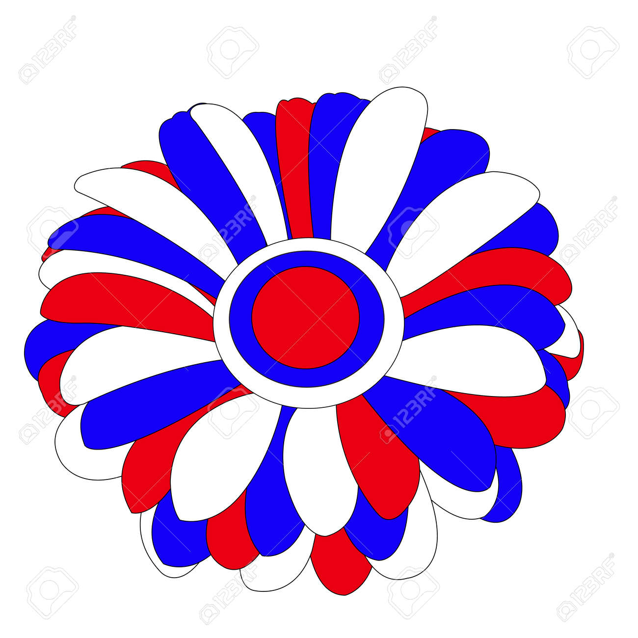A Flower Painted In The Colors Of The Russian Flag A Gerbera