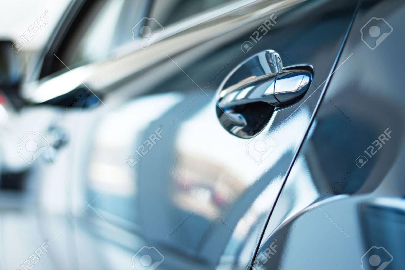 Close up photo of new car door. Concept for car rental Standard-Bild - 47713986