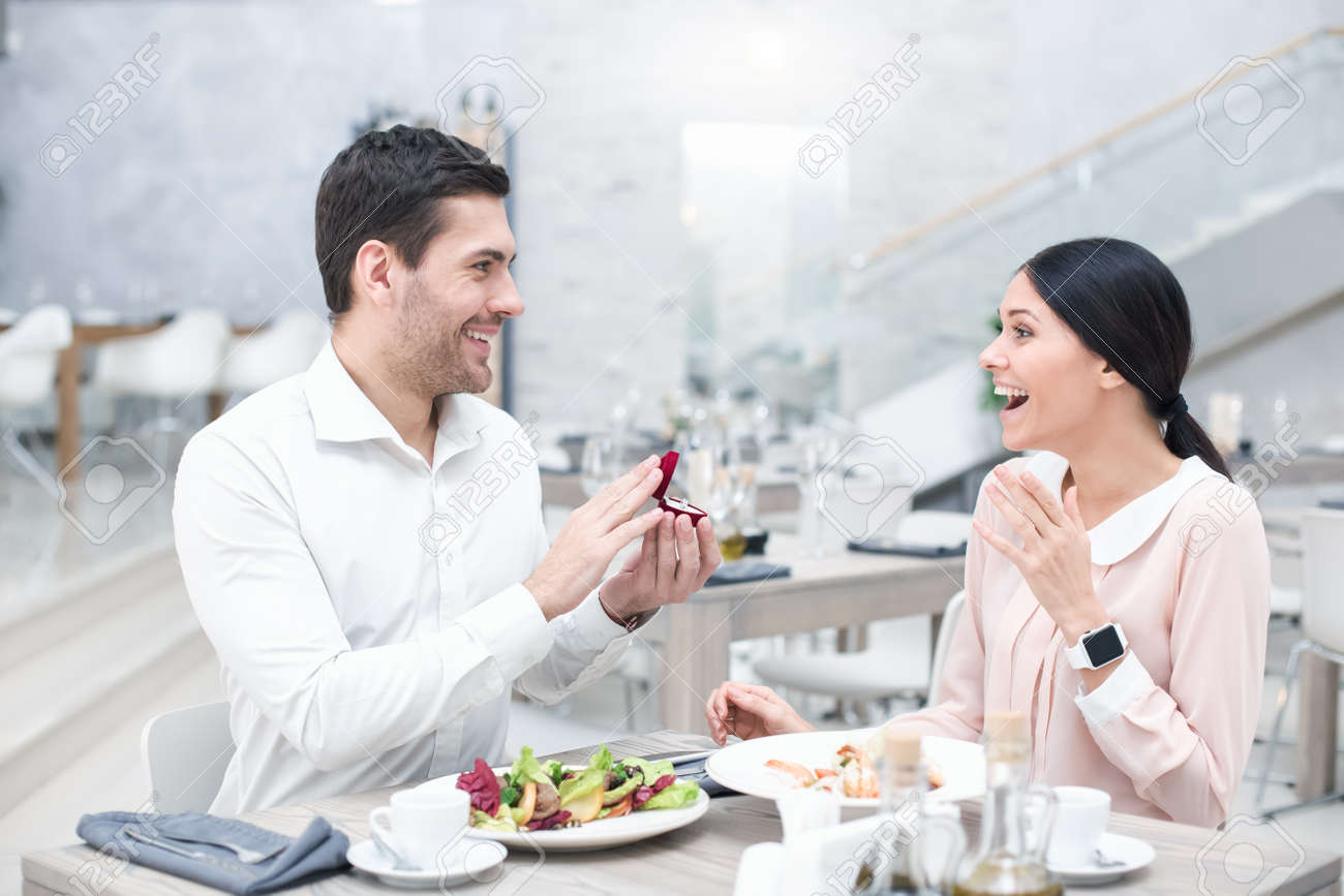 Romantic Date In Luxury Restaurant Stock Photo Picture And Royalty Free Image Image 76063235