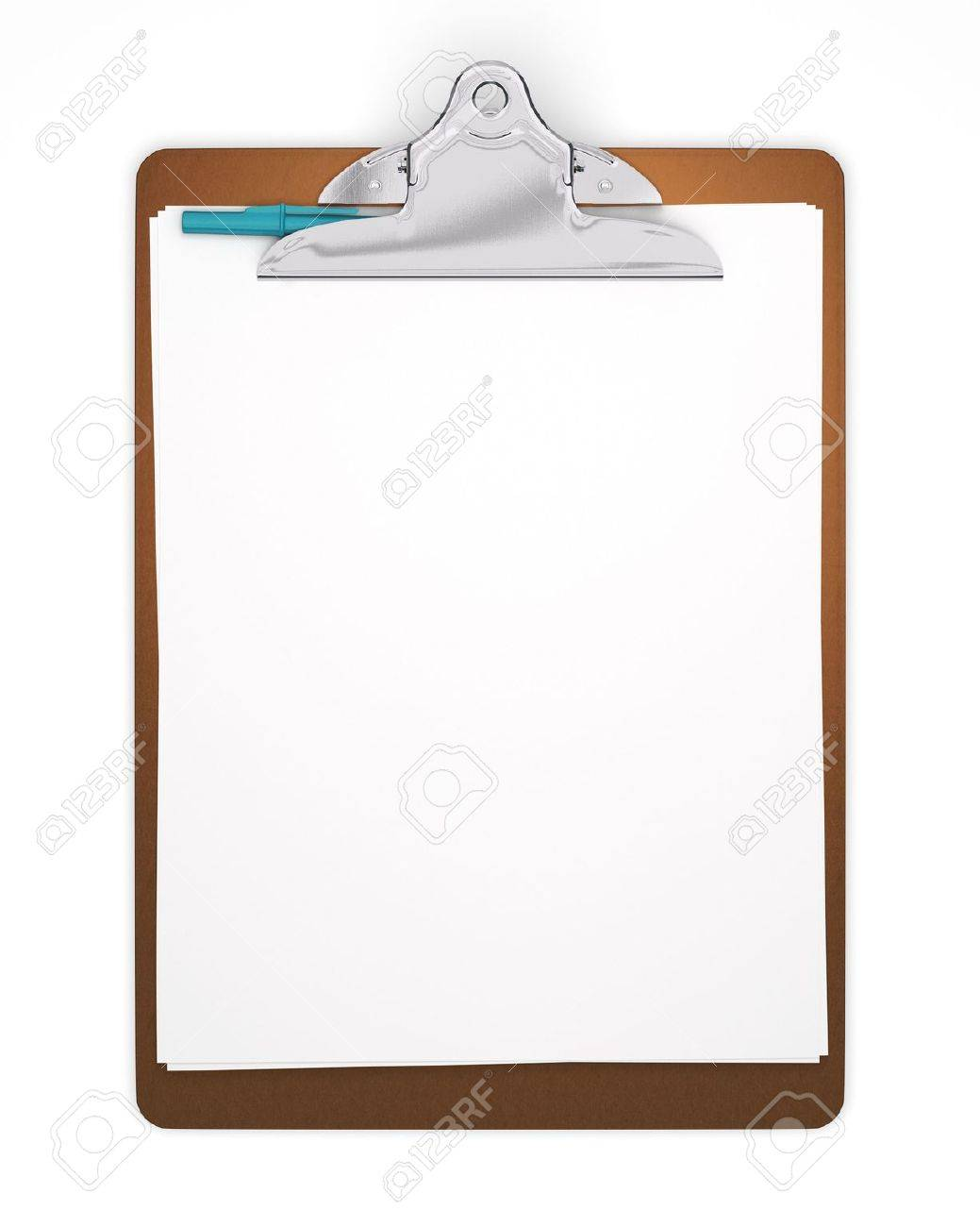 Blank Clipboard with Pen - Isolated - 5109744