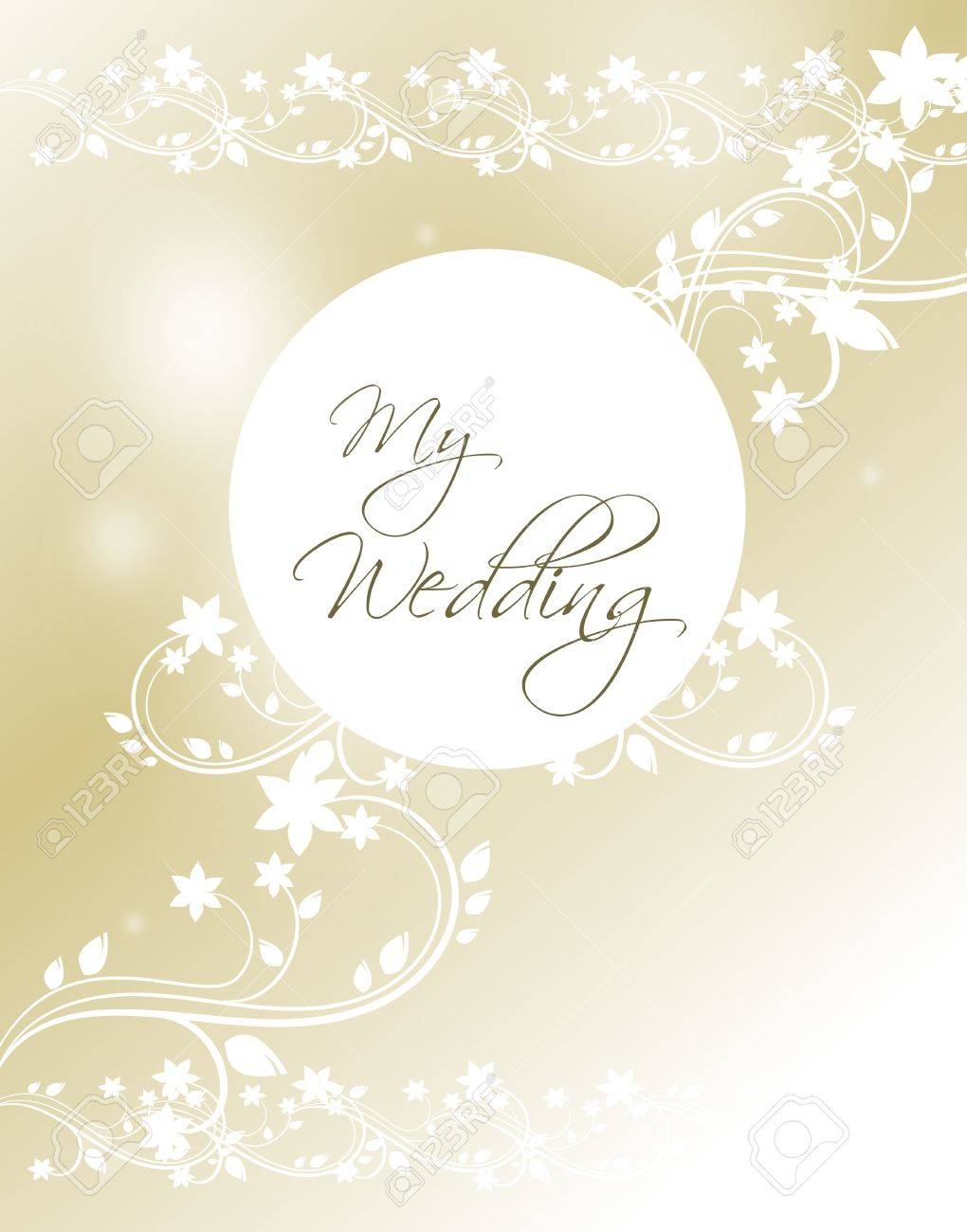 light golden wedding card background stock photo picture and