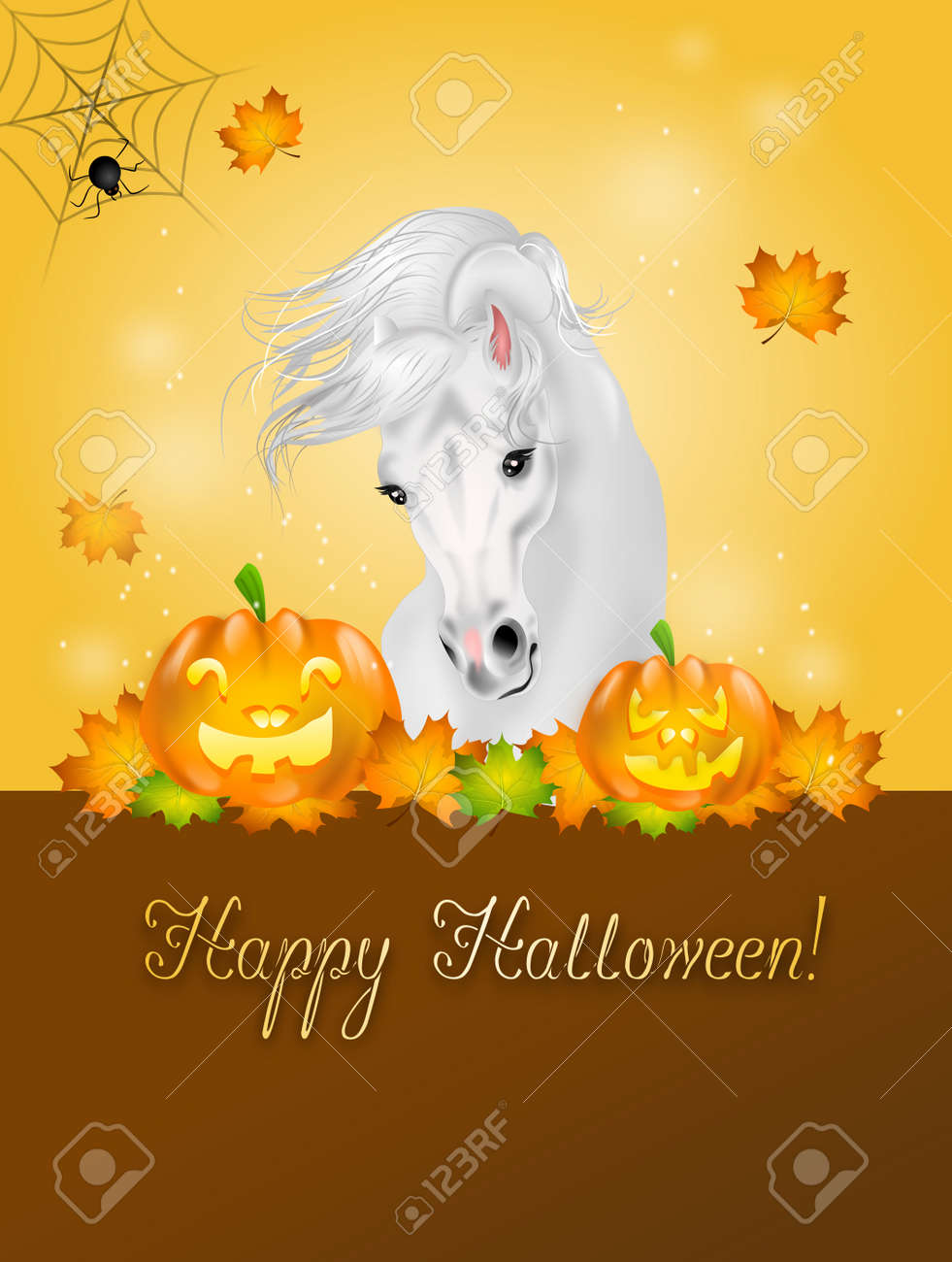 Fashion week Halloween Happy horse pictures for girls